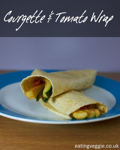 Courgette and Tomato Wraps