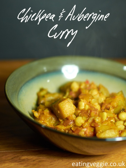 Chickpea and Aubergine Curry, Vegan