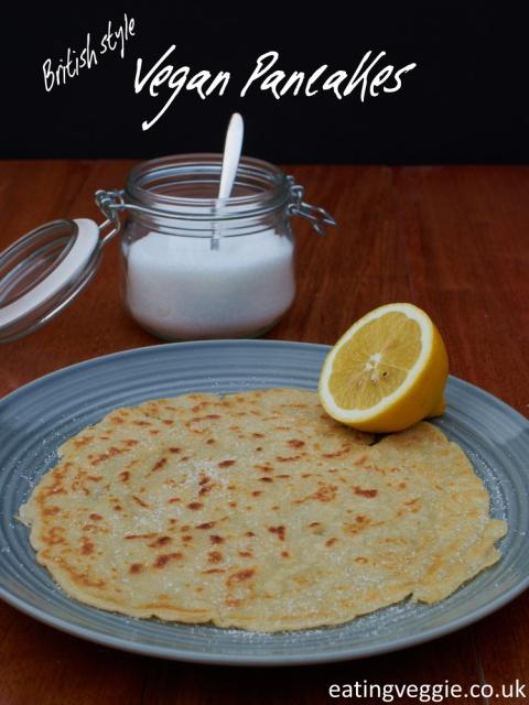 British Style Vegan Pancakes